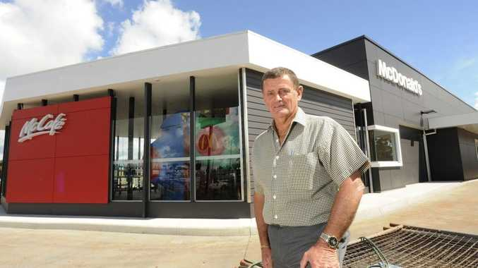 McDonald's Toowoomba licensee Keith Beer inspects his new restaurant before it opens later this month.