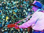The late, great Slim Dusty performs on main stage at a Gympie Muster. A highlight of this year's Muster will be Missing Slim – The 10th Anniversary Tribute Concert which will celebrate Slim's colossal song catalogue a decade on from his passing.