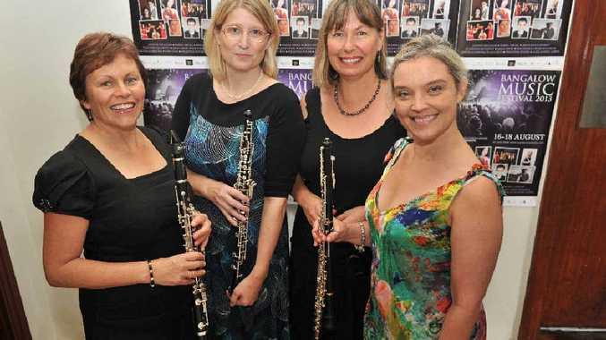 Kathleen McLennan (Clarinet), Helen Spurgeon (Obeo), Margaret Stewart (Flute) and Tania Frazer (Obeo), Creative Director of the Bangalow Music Festival.