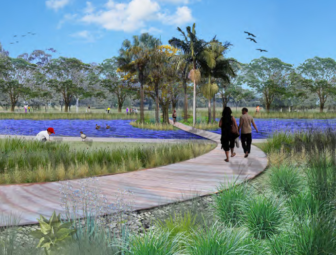 An artist's impression of Lismore's proposed
