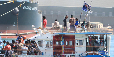 The fishing boat carrying 66 Sri Lankans was flying the New Zealand flag. Photo / Graeme Gibbons