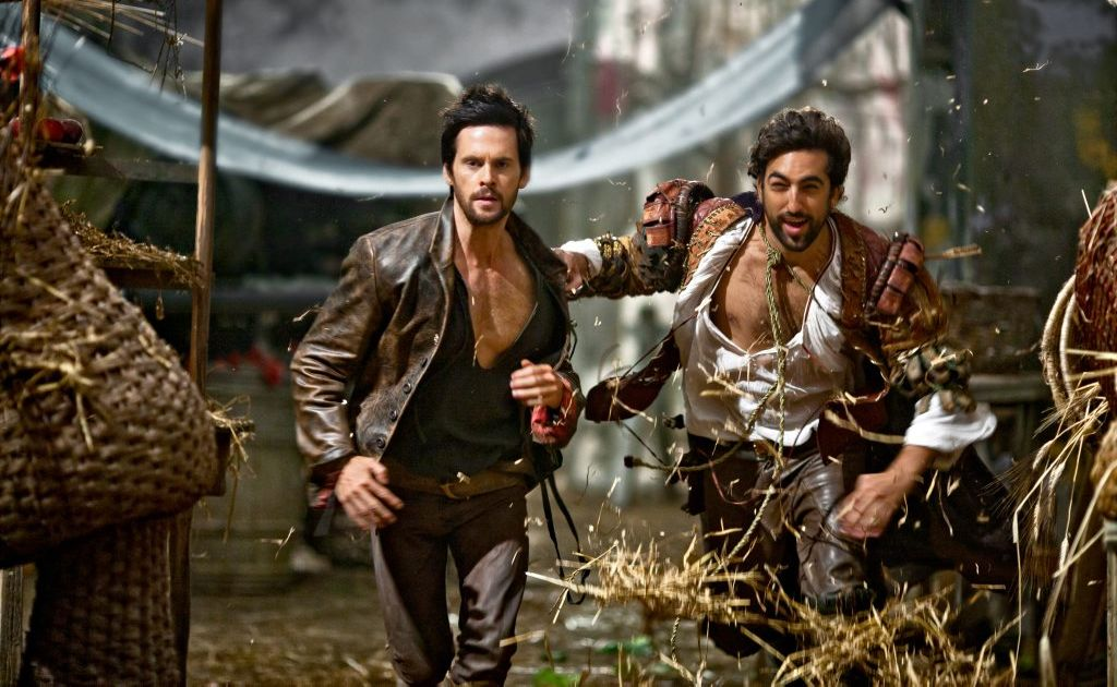Tom Riley, left, and Gregg Chillin in a scene from the TV series Da Vinci's Demons.