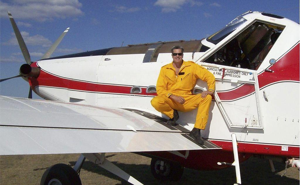 FIREFIGHTER: Brunswick Heads aerial fire fighter Peter Jones.