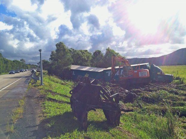 Truck crash near Yandina.