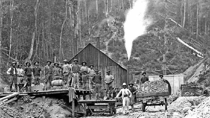BACK TO FUTURE: Historic photo of Gold Mining at Drake.
