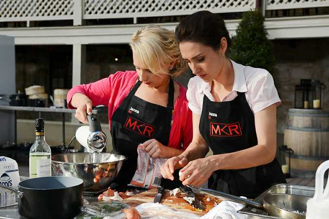 Jenna and Joanna cooking outdoors in Perth.