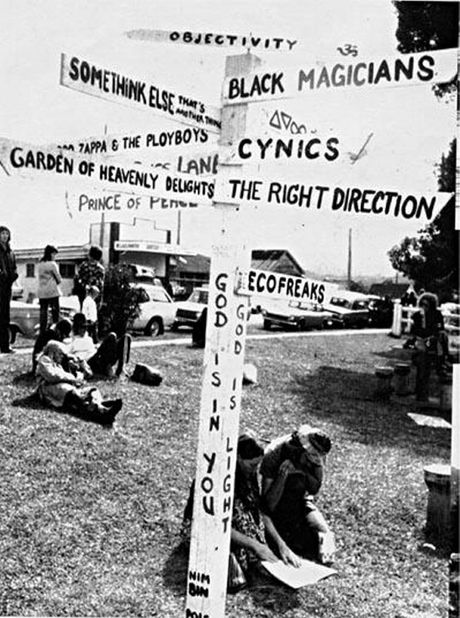 SIGN OF THE TIMES: All directions led to the festival