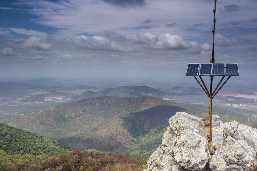 GREAT VIEW: Up the top of Mount Larcom. Photo Christopher Chan / The Observer