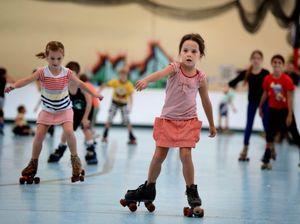 Kids having fun at Epic skate rink
