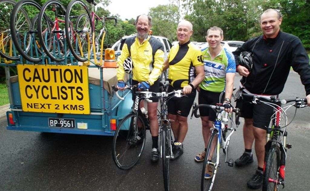Anglican Aid Smashing Cycles of Poverty's Ron Balderston, CEO Dave Mansfield, David Langley and Tom Henderson-Brooks.