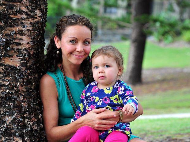 Natalie Banner with her daughter Velvet.