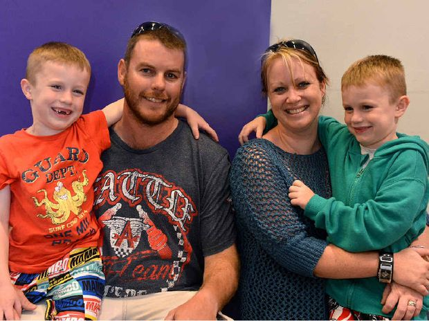 Sean, Matt, Lynsey and Corey Hayes represent Mr and Mrs Average of the Mackay Region. Photo Lee Constable / Daily Mercury