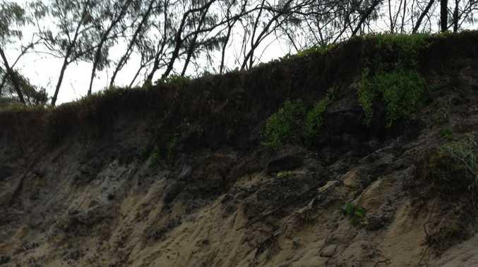 Erosion at Maroochydore Beach this week.