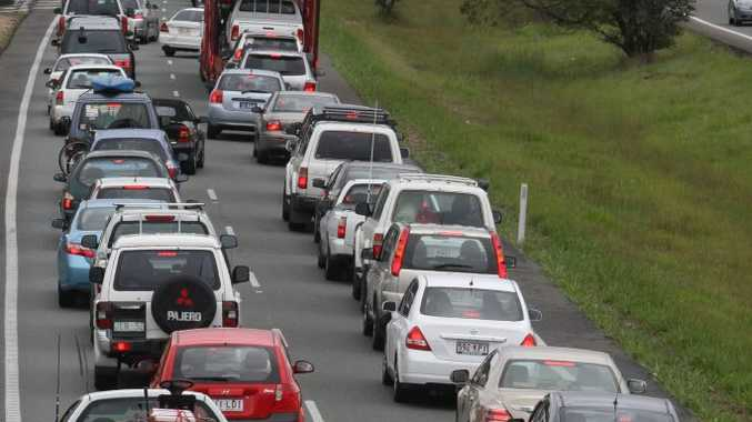 Traffic delays on the Bruce Highway heading to Brisbane are common on Sunday afternoons from  the Sunshine Coast.