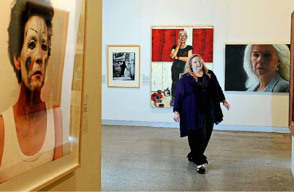 IT'S MY LIFE: Susi Muddiman walking through the popular Tweed River Art Gallery.