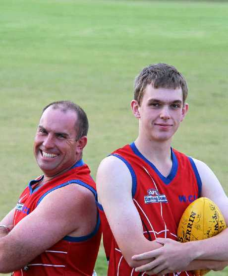 Redbacks Senior Coach Jason Wright and player Scott See.