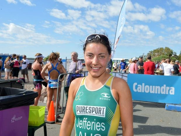 Caloundra Triathlon Annelise Jefferies from Buderim came 2nd.