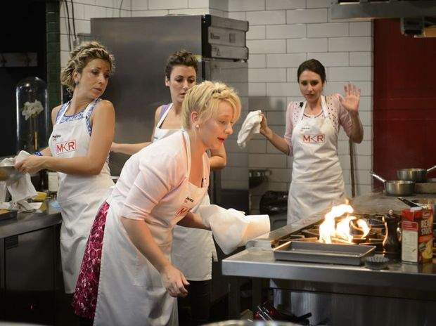 Jenna and Joanna face the flames in Comeback Kitchen.