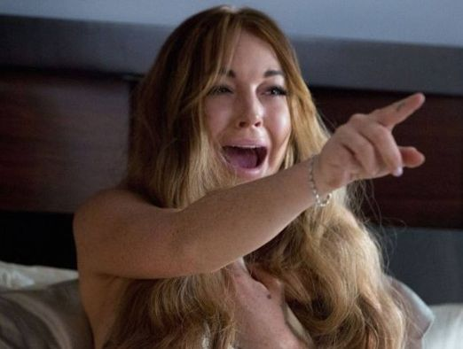Lindsay Lohan in a scene from Scary Movie 5.