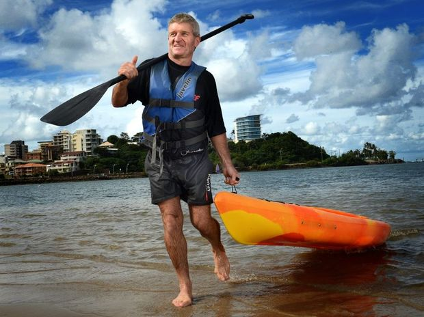 Peter Meehan of Redlands at Jack Evans boat harbour. Photo: John Gass / Daily News Peter Meehan travelled down with his family wife Adrianne and sons Jake 13 and Blair 11 for a one week Holiday and will be leaving on Saturday with two words to describe the area, Fantastic and Beautiful. Staying at one of the local resorts and having a great breakfast of pancakes Peter and the family took advantage of all the great watercrafts including catamarans, windsurfers and canoes on offer for a day out at Jack Evans boat harbour. One of Peter*s favourite activities for the day was an egg throwing competition with his wife where she ended the day covered with egg, payback replied Peter with a smile on his face.