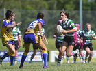 Women's rugby league at Marley Brown Oval, Harvey Road, Gladstone. Tigers' Emma Holzwart.