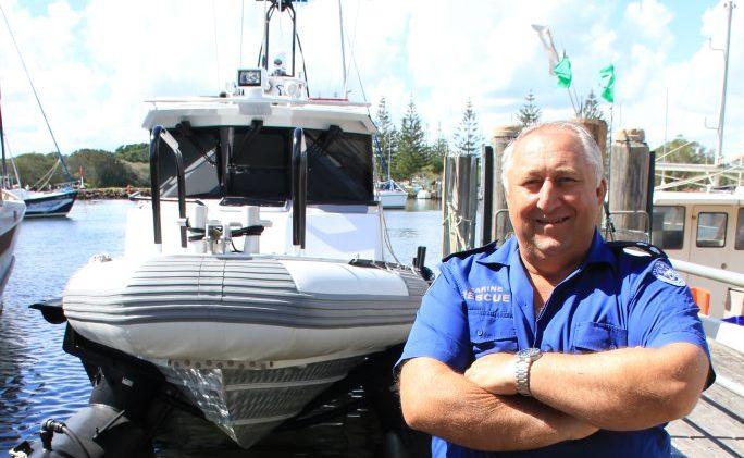 HI AND DRY: Deputy Unit Commander Marine Rescue Brunswick Lazlo Szabo with the new AirBerth
