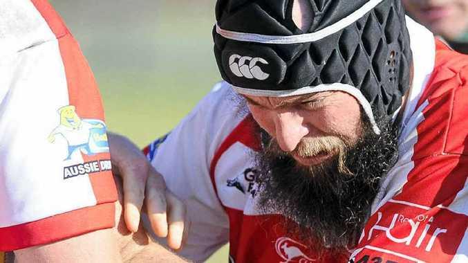 DIGGING IN: Grafton Redmen forward Matt Rung.
