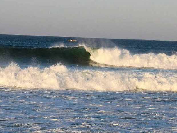 The waves at La Ticla are usually a big attraction for surfers.