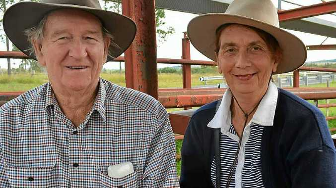 FEED TO GO: A good season had Alan and Grace Murray from Back Plains buying at the annual santa sale.