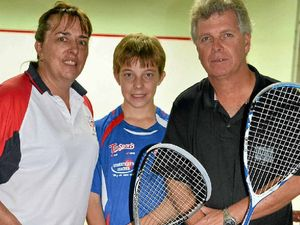 Family caught up in the game of squash