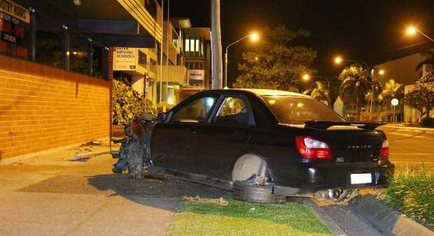 A motorist crashed into the Coffs Harbour Motor Registry early this morning.