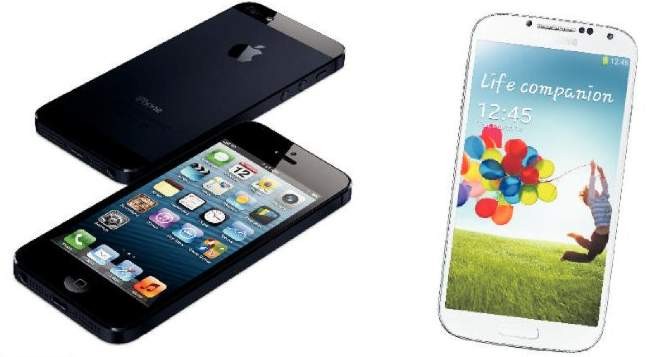 iPhone 5 v Samsung Galaxy S4