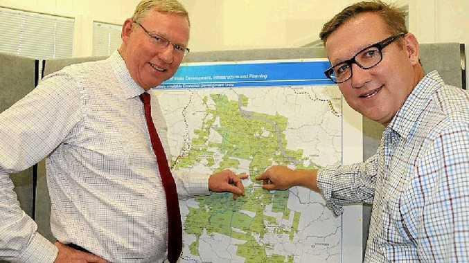 Deputy Premier Jeff Seeney and Member for Gympie David Gibson.