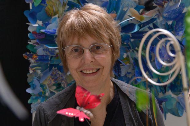Margaret Olsen gets ready for a butterfly exhibition. Photo: John McCutcheon / Sunshine Coast Daily