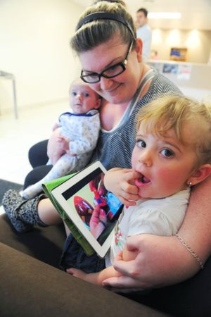 WHIZ KIDS: Dakota Blackley is one of the many Generation Z kids using iPads as an educational tool. Photo: Max Fleet / NewsMail