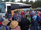 Ulysses members ready to depart for a tour of Fraser Island on Tuesday morning.