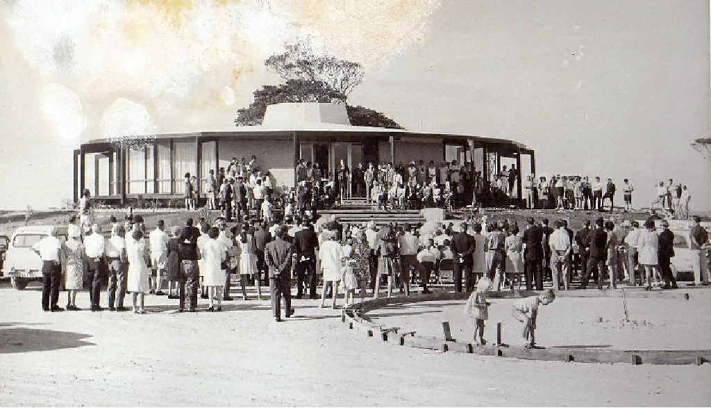 DECISION TIME: The Roundhouse at Ocean Shores on opening day in 1969.
