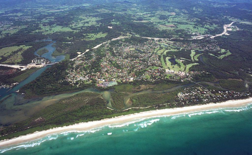 An aerial view of Ocean Shores
