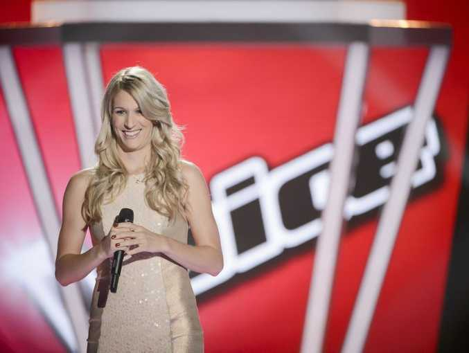 Emerald's Sophie Phillis can't hide her joy when three of The Voice's judges turned around at her audition.