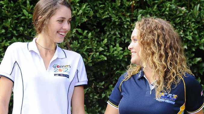 ACADEMY GAMES: NCAS reps Sarah Kitcher and Emilia Blanch. Photo: JoJo Newby