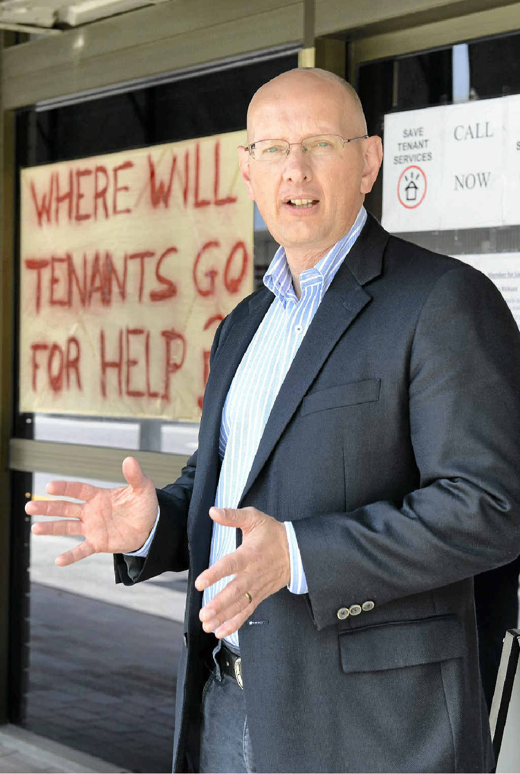 ANGRY: Member for Blair Shayne Neumann has slammed the LNP for closing the Ipswich Tenant Advice and Advocacy Service.