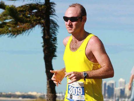Ipswich&squot;s leading marathon runner Matt Casos.