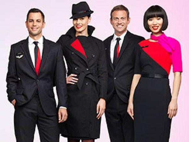 The new Qantas uniforms, using merino wool.