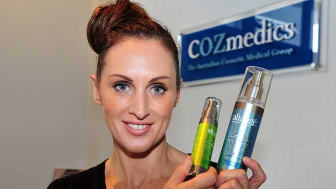 Donna Gordon with the Cozmedics Aliange Range.
