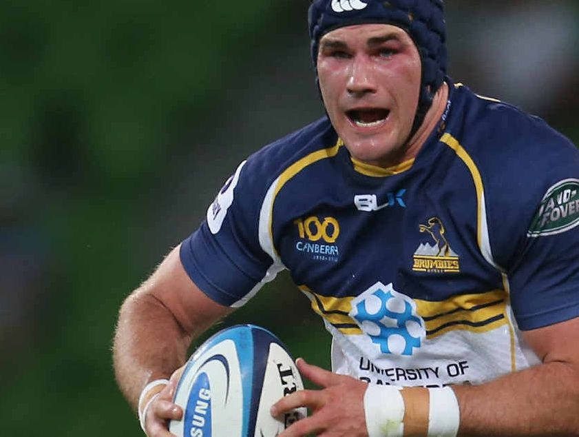 Ben Mowen in action for the ACT Brumbies.