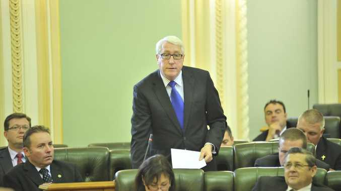 Ipswich MP Ian Berry (standing).