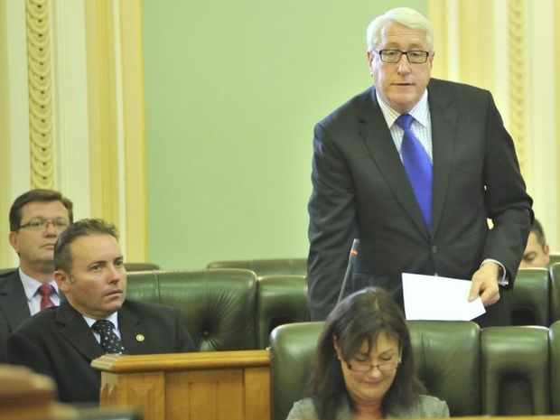 Legal Affairs committee chair and Ipswich MP Ian Berry (standing).