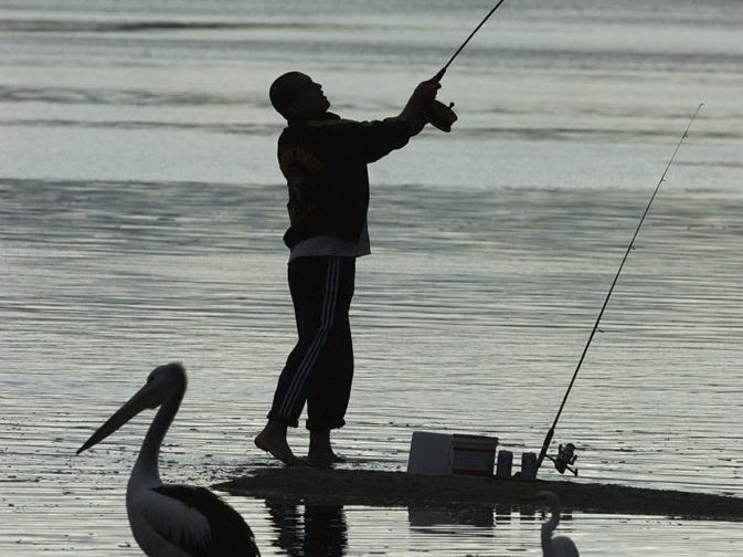 Fishing at sunset. Photo: Barry Leddicoat / Sunshine Coast Daily