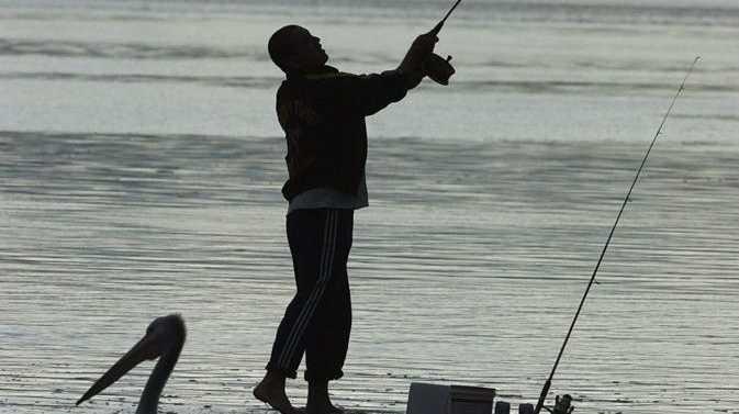 Fishing at sunset. Photo: Barry Leddicoat / Sunshine Coast Daily