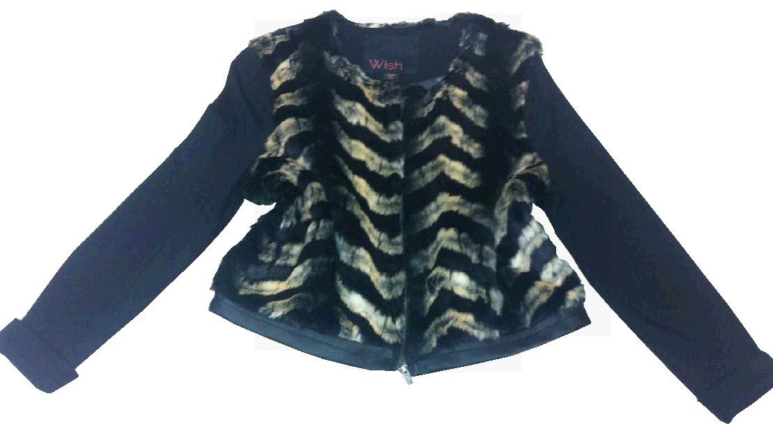 Faux fur detailed jacket